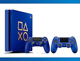 Playstation 4 1TB Limited Edition : Days Of Play Console + DualShock 4 Wireless Controller Wave Blue + NBA 2k17 Bundle ( 3 - Items )