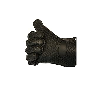 NEW Heavy Duty FIE Tech CO Max Heat Silicone BBQ Gloves - Best Brand Heat Resistant Cooking And Grill Gloves - Protect Your Hands And Avoid Accidents - Waterproof Five-Fingered Grip Texture