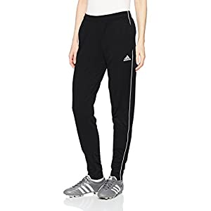 adidas Women's Soccer Core Training Pants, Black/White, Small