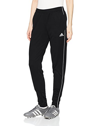 adidas Women's Core18 Training Pants, Black/White, Small ()