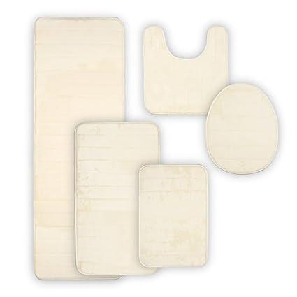 buy dearhouse bathroom rugs soft non slip memory foam bathroom set rh amazon in Microfiber Bathroom Rug Set Bathroom Rugs Memory Foam