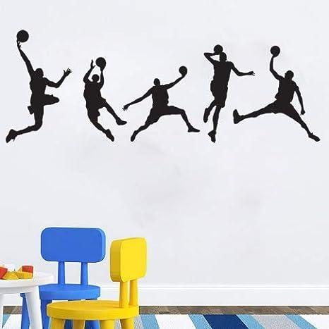 Amazon.com: Pegatinas de pared de baloncesto para dormitorio ...