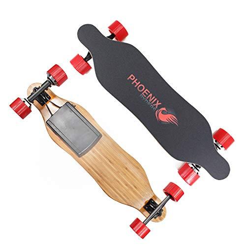 Phoenix 2019 New Model Mini Electric Skateboard Longboards Plus Dual Motors 15KM Range 26KM/H Top Speed with Remote Controller