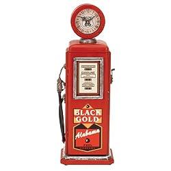 Deco 79 Wood Gas Pump Clock, 21-Inch by 7-Inch