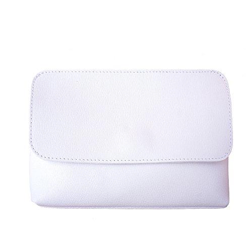 Pochette con correa de hombro desmontable 6145 Blanco