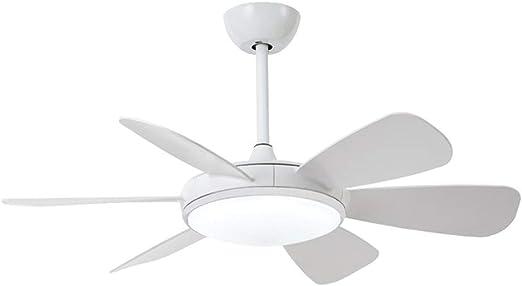 Wonderlamp Clip Ventilador de techo 24W LED Integrado 6 palas 3 tonos de luz. Mando a distancia incluido, Blanco: Amazon.es: Iluminación