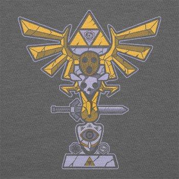 TEXLAB - Triforce Totem - Damen T-Shirt, Größe XL, grau