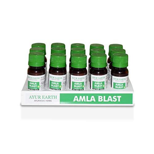 Amla Superfood Shot - AYUR EARTH - Ayurvedic Hair, Skin, Nail Health - Boost Immune System - Amla Powder Replacement - Indian Gooseberry (Alma Fruit) Organic Powdered Extract - Source of Vitamin C