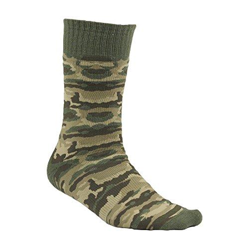 Carhartt Men's Camo Boot Socks,  Olive, Sock Size:10-13/Shoe Size: 6-12 (Wool Camo Sock)