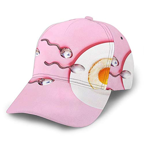 MISQY Baseball Cap for Men Women Funny Fertility Food,Unisex Hip Hop Snapback Flatbrim Hats Adjustable Comfy Polo Golf Cap Trucker Cap Fashion Curved Visor Hat Black