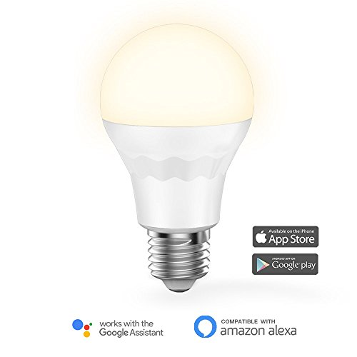 Bulbs Dot - MagicLight WiFi Smart Light Bulb, Soft White (2700K), 60w Equivalent Dimmable Sunrise A19 Smart Light Bulb, No Hub Required, Compatible with Alexa & Google Home Assistant