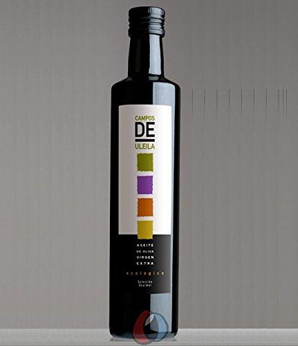 3 botellas vidrio 500 ml - Campos de Uleila - Aceite de oliva virgen extra ecológico