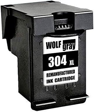 Wolfgray 304XL Remanufacturado para HP 304 XL 304 Cartuchos de tinta (1 Negro) para HP Deskjet 3720 3730 3732 3700 3735 3733 2620 2630 2632 2633 HP ...