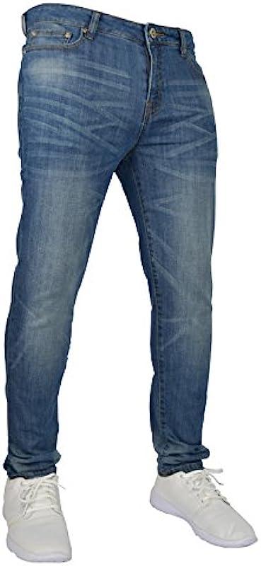 WestAce Jeansy męskie, rozciągliwe, wąskie dopasowanie, 98% bawełna i 2% stretch, 71,1-101,6 cm (28-40 cali) talia: Odzież