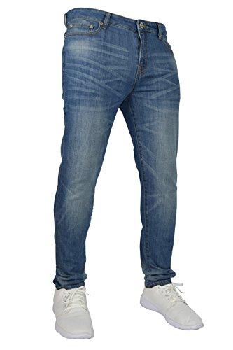 Da Elasticizzato Uomo 28–40 Pantaloni 2 98 Denim Fit In Cotone Vita Light Blue Stretch E Flex Slim dn0Hc0frq