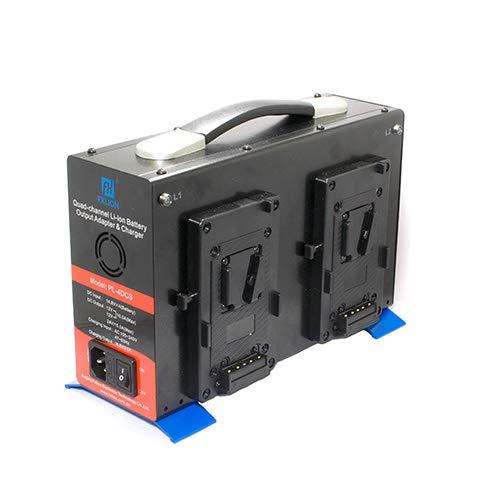 Cinegears ABマウント用 クアドチャージャーパワーステーション 放電機能付き(14V DCアウトプット) 電池充電 4つ同時充電 カメラ機材用充電機   B07GL7SW22