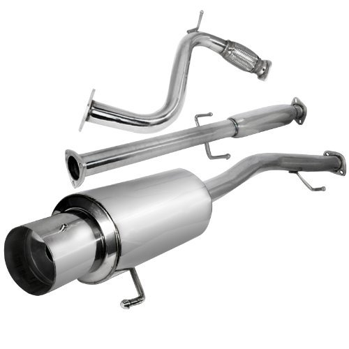 Style Cat N1 - Spec-D Tuning MFCAT2-ACD90 Honda Accord Ex Dx N1 Style Catback Exhaust System