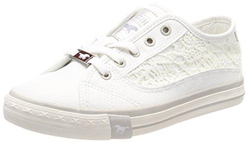 Femme Mustang 38 303 1146 Sneakers Weiß Basses Weiß EU 1 vxvn8
