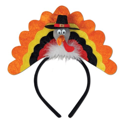 Turkey Headbands - Turkey Headband Party Accessory (1 count)