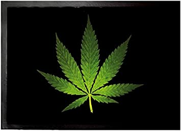 Amazon Com 1art1 Cannabis Door Mat Design Floor Mat Hemp Leaf 28 X 20 Inches Furniture Decor