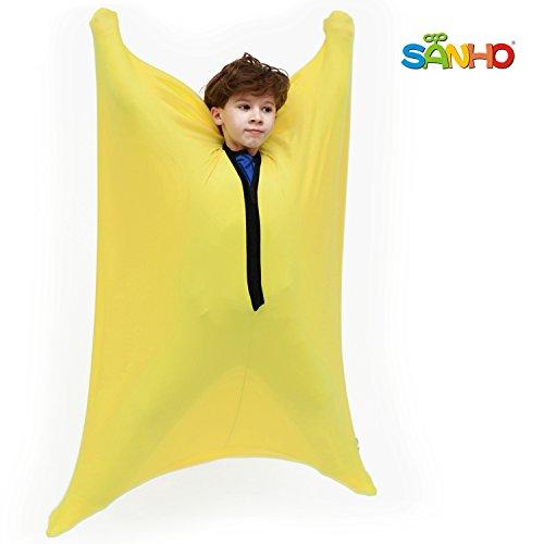SANHO Dynamic Movement Sensory Sox - Updated Version, Small, 3-5 Years, 40 L x 27 W, Yellow