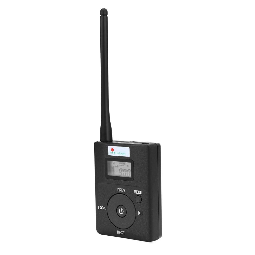 Richer-R FM Transmitter, Portable 3.5MM Low-Power Wireless FM Transmitter Audio Adapter Stereo Radio Broadcast Adapter
