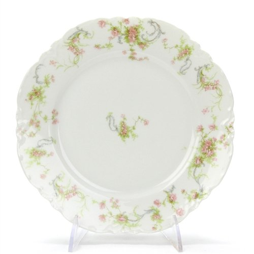 Luncheon Plate by Haviland & Co, Limoges, Porcelain, Pink -