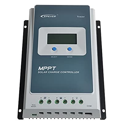 SolarEpic 40A MPPT Solar Charge Controller 100V Input Tracer an Series 4210AN with Display