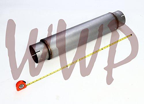 Stainless Steel SS409 Universal High Flow Exhaust Muffler Kit 5