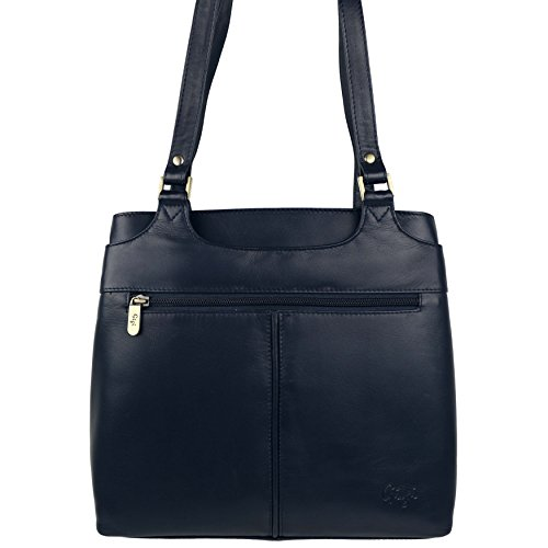 Mujer Bolso Bandolera de Piel Suave by GiGi; Othello Collection Classic bag Multicolor - azul marino