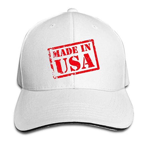 TYMOFII80 Sandwich Hats Made in USA, Made in America Baseball Cap Adjustable Trucker Hat Unisex