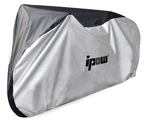 IPOW 210D Thicken Oxford Fabric Waterproof Snowproof UV Protective Cycle Bike Bicycle Cover with Bag Best for Mountain Road Electric and Cruiser Bikes by IPOW