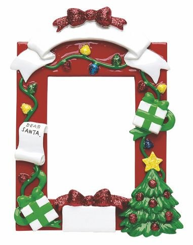 Amazon.com: Christmas Frame Personalized Christmas Ornament-Free ...
