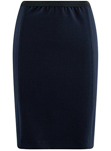 Ultra Oodji Azul Con Elástico Mujer Lápiz 7900n Falda P1wa1