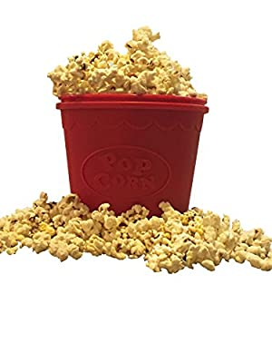 BPA-free Silicone Popcorn Maker for Microwave-Healthy and Simple Popcorn Popper-1.5 Quart , by Savvy Gourmet Home and Kitchen