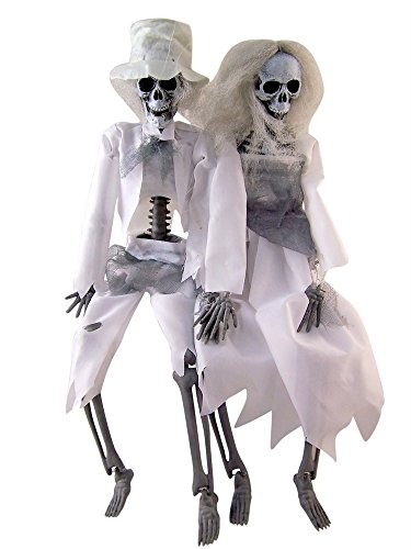 Hanging Skeleton Couple Halloween Decoration, 16 -