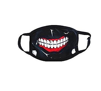 SROVFIDY- Máscara de camuflaje, diseño de tiburón, color negro (G)