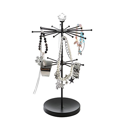 Giftware black rotating Jewelry holder