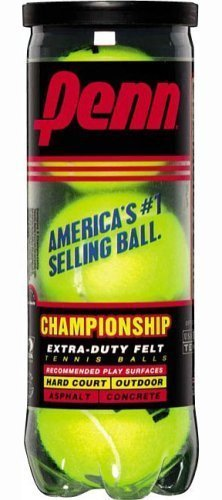 Penn 55108 Tennis Balls Hi-Intensity Yellow 3 / Can Pack of 2 cans (total of 6 ()