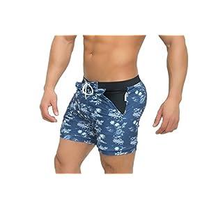 Taddlee Basic Men's Swimwear Swim Surf Trunks, Blue, Large