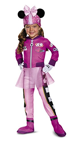 Minnie Roadster Deluxe Toddler Costume, Multicolor, Medium (3T-4T)
