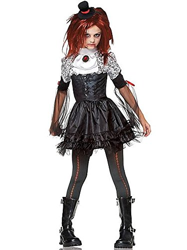 Halloween Creepy For Little Costumes Girls (Edgy Vamp Child Costume -)
