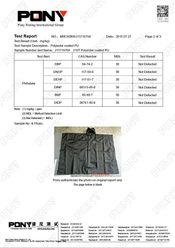 SUNGJAM Rain Poncho with Travel Pouch | Two Over Door Metal Hooks for Drying by SUNGJAM (Image #6)