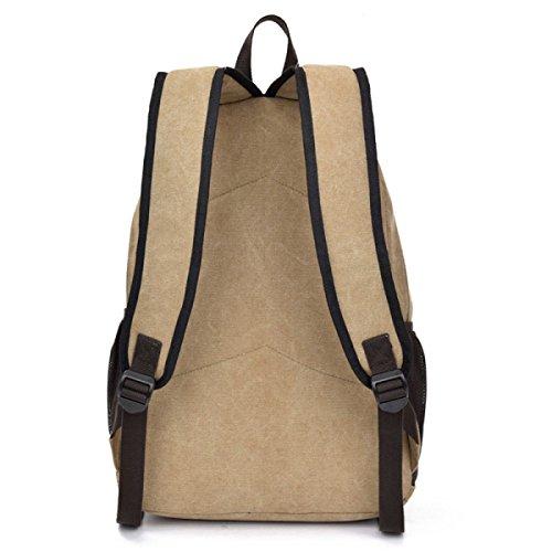 purpose Leisure Backpack Laidaye Canvas Multi Travel Beige Business x4wU8q