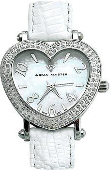 Aqua Master Damen-Armbanduhr Zwei Zeile Diamant Herz - 1 -25 ctw