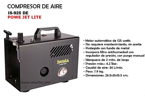 Amazon.com: Iwata Revolution CR Airbrushing System with Power Jet Lite Air Compressor