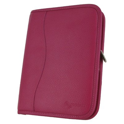 Executive Portfolio Leather Case Cover for Kindle Fire HD 7 Color: Magenta