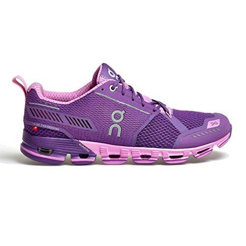 On Cloudflyer Running Shoe   Womens Purple Rose 8