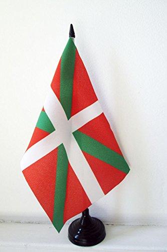 AZ FLAG Drapeau de Table Pays Basque 21x14cm