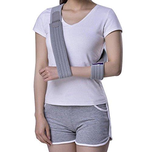 Genmine Arm Sling Shoulder Immobilizer Dislocated Medical Sling Adjustable Arm Support Strap for Broken Wrist Elbow Support Comfortable Strap for Men or Women (Arm Padded Sling)